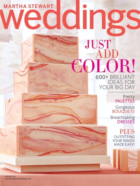 Martha Stewart Weddings Spring 2013 Cover 550x734 Sneak Peek: Martha Stewart Spring 2013 Issue!