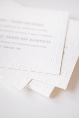 Modern Letterpress Wedding Invitations Mae Mae Paperie6 300x450 Elizabeth + Justins Modern Destination Wedding Invitations