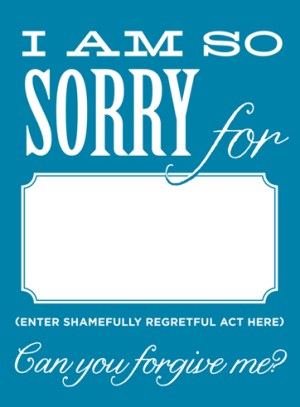 SORRY 2 300x407 Stationery A – Z: Apology Cards