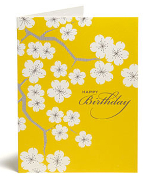 Snow and Graham Golden Cherry Blossom Seasonal Stationery: Cherry Blossoms