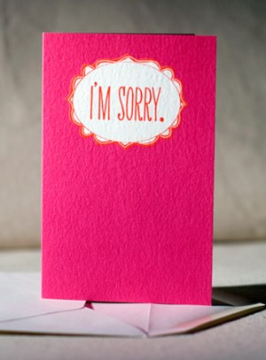 sorry 300x407 Stationery A – Z: Apology Cards