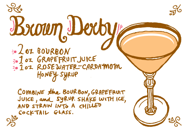 Rosewater Cardamom Brown Derby Recipe Caitlin Keegan Friday Happy Hour: Rosewater Cardamom Brown Derby