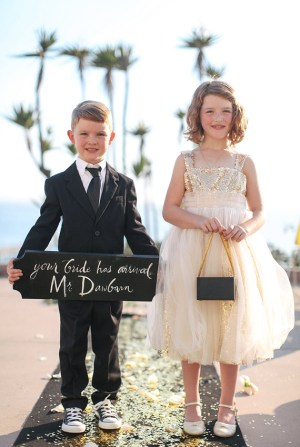 Bride Sign Love Jenna Calligraphy Max Wanger Photography 300x447 Wedding Stationery Inspiration: Here Comes the Bride Signs