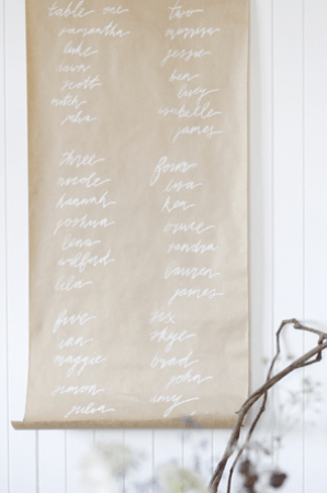 Calligraphy Kraft Paper Menu Sign Follow Studio Lauren Michelle Photography Wedding Stationery Inspiration: Menu Signs