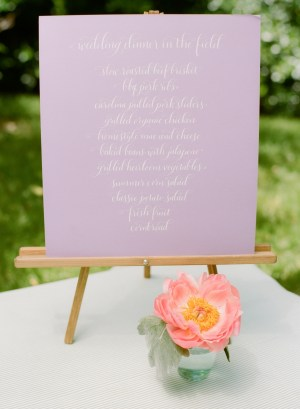 Calligraphy Menu Sign Meant to be Calligraphy Abby Jiu Photography 300x409 Wedding Stationery Inspiration: Menu Signs