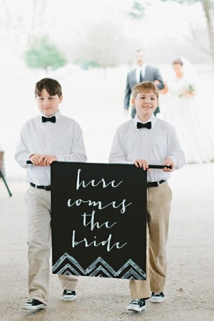 Here Comes the Bride Amy Arrington 300x450 Wedding Stationery Inspiration: Here Comes the Bride Signs