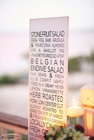 Lucite Wedding Menu Max Wanger Photography 300x443 Wedding Stationery Inspiration: Menu Signs