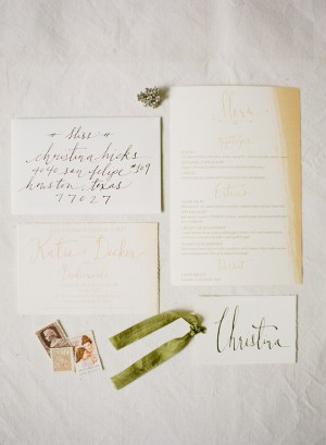 Bridesmaid Luncheon Calligraphy Laura Catherine2 300x409 Katies Rustic Italian Inspired Calligraphy Wedding Stationery