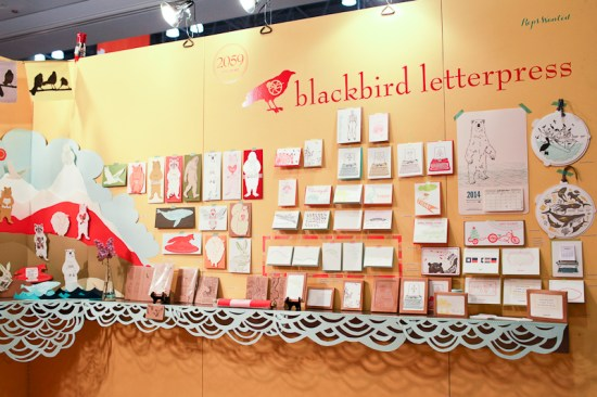 National Stationery Show 2013 Oh So Beautiful Paper Blackbird Letterpress 1 550x366 National Stationery Show 2013, Part 7