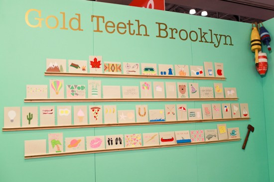 National Stationery Show 2013 Oh So Beautiful Paper Gold Teeth Brooklyn 1 550x366 National Stationery Show 2013, Part 9