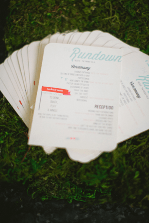 Wedding Day Schedule Meg Ruth Photo 300x450 Wedding Stationery Inspiration: Day of Itineraries