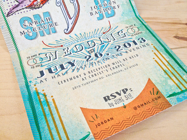 Concert Poster Wedding Invitations Austin Dunbar4 Sarah + Jordans Illustrated Show Bill Wedding Invitations