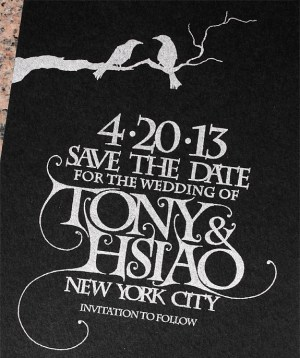 Game of Thrones Wedding Invitations PostScript Brooklyn8 300x358 Tony + Hsiaos Game of Thrones Wedding Invitations