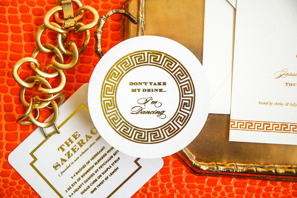 Gold Foil Wedding Coasters Emily McCarthy Wedding Stationery Inspiration: Coasters