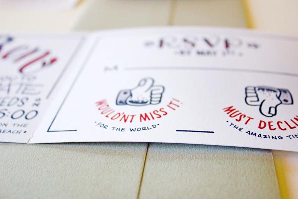 Lobster Bake Wedding Party Invitations Faye and Co3 Madeleine + Bens Lobster Bake Post Wedding Party Invitations