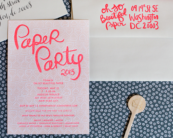Paper Party 2013 Invitations Oh So Beautiful Paper Linda Harriett Smock Mohawk 7 Paper Party 2013: The Invitations!