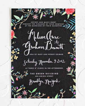 Whimsical DIY Floral Wedding Invitations2 300x375 Melissa + Grahams Whimsical Hand Painted Wedding Invitations