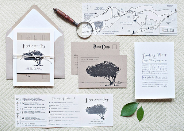Whimsical Outdoor Wedding Invitations Suite Paperie Lindsay + Jays Whimsical Nature Inspired Wedding Invitations