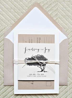 Whimsical Outdoor Wedding Invitations Suite Paperie5 300x405 Lindsay + Jays Whimsical Nature Inspired Wedding Invitations