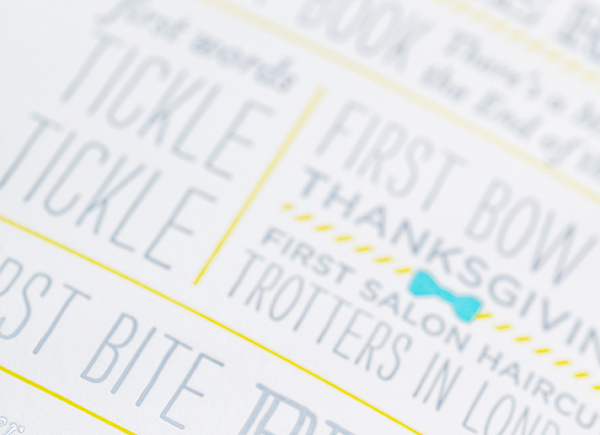 Bowtie Letterpress First Birthday Party Invitations Lilly Louise3 Zaviers Cheerful Bow Tie First Birthday Party Invitations