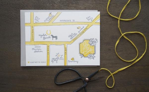 Weddingmap 9TH LETTER PRESS: Jessie + Andrews Rustic Wedding Invitations