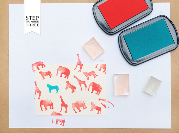 DIY Rubber Stamp Kids Stationery Antiquaria Oh So Beautiful Paper3 DIY Tutorial: Rubber Stamp Kids Animal Stationery