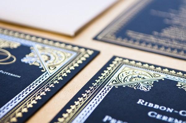 Elaborate Middle Eastern Invitations Aubri Duran Ben Peacock Photography4 600x398 Dramatic Middle Eastern Scriptorium Soirée Invitations