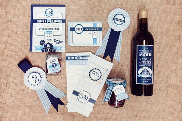 Prize Ribbon Wedding Stationery U plus U Brandon Kidd Wedding Stationery Inspiration: Award Ribbons