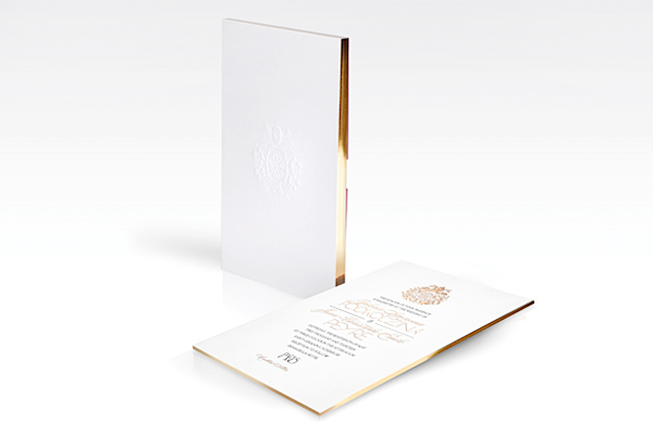 Gold Foil Paris Wedding Invitations Atelier Isabey Chris + Yelenas Gilded Parisian Wedding Invitations