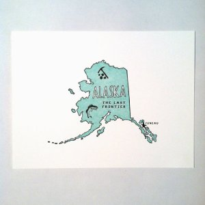 Letterpress State Prints Alaska Power and Light Press 300x300 Quick Pick: Power + Light Press State Prints
