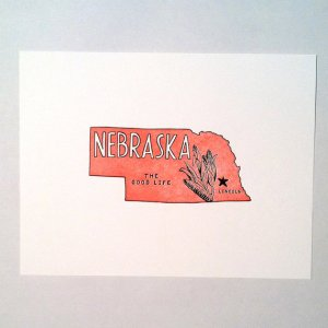 Letterpress State Prints Nebraska Power and Light Press 300x300 Quick Pick: Power + Light Press State Prints