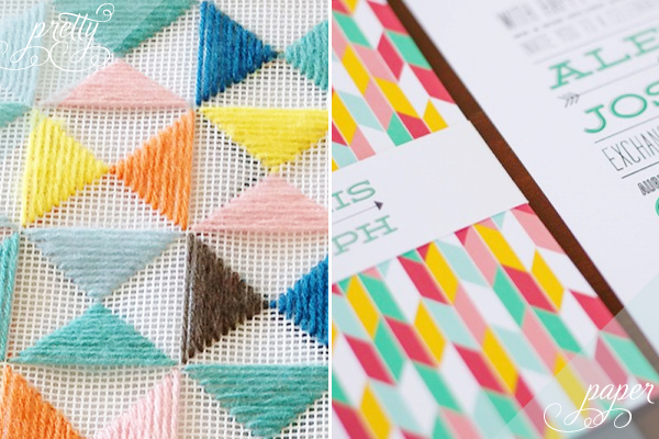 Pretty Paper Colorful Geometric Pretty + Paper