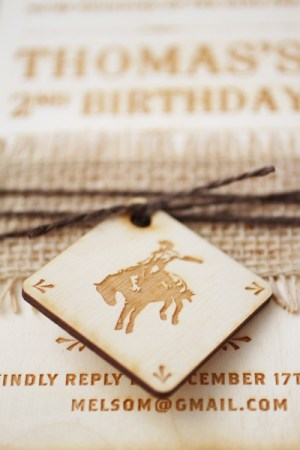 Western 2nd Birthday Party Invitations Vellum Vogue8 300x450 Thomass Western Rodeo 2nd Birthday Party Invitations