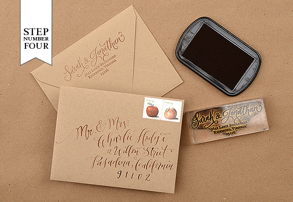 step41 DIY Tutorial: Rubber Stamp Mountain Inspired Save the Dates
