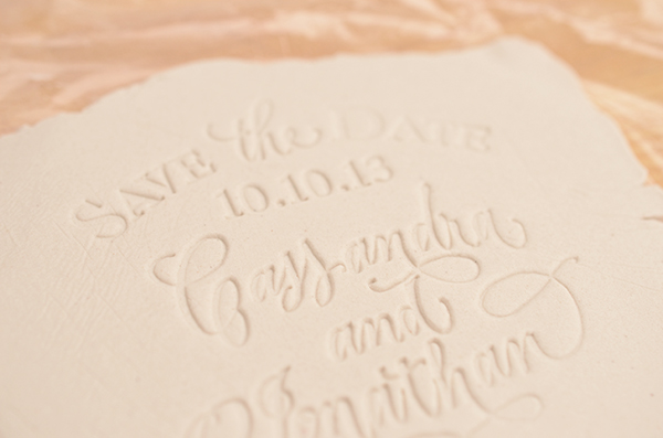 Clay floral STD step3 detail DIY Tutorial: Rubber Stamp Clay Save the Dates