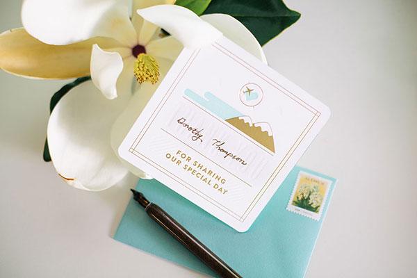 Mint Gold Foil Destination Wedding Invitations Huilin Dai4 Huilin + Martins Gold Foil Boarding Pass Wedding Invitations