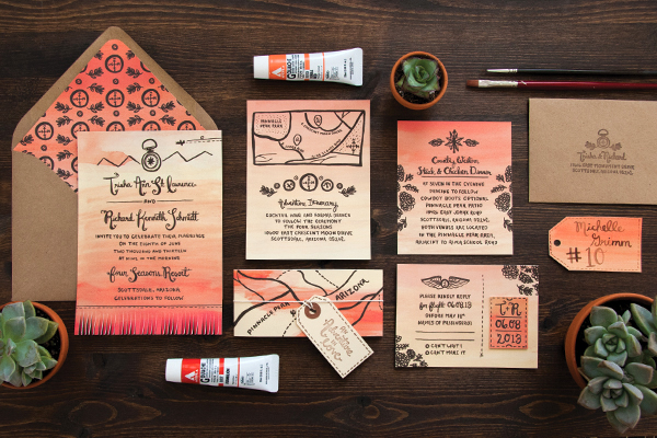 Arizona Desert Sunset Wedding Invitations Lovely Paper Things Best of 2013: Wedding Invitations