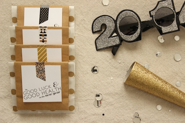DIY New Years Eve Favors OSBP 11 DIY Tutorial: Cheeky New Years Eve Party Favors + Printable Tags