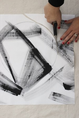 DIY Brushstroke Hot Pads OSBP Step 2 DIY Tutorial: Modern Brushstroke Hot Pads