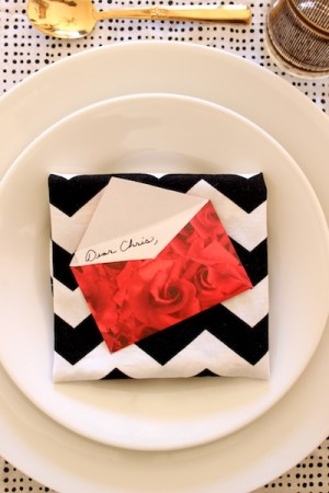 DIY Mini Love Letter Placecards OSBP 13 DIY Tutorial: Love Letter Dinner Party Placecards