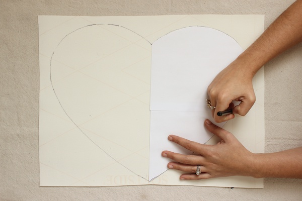 DIY White Leather Heart Placemats OSBP 5 DIY Tutorial: White Leather Heart Placemats