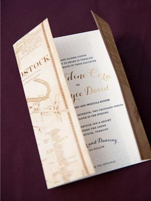 Elegant Gold Foil Wedding Invitations Gus Ruby Letterpress10 Geri + Bryces Elegant Gold Foil Wedding Invitations