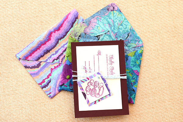 Final 2 DIY Tutorial: Tropical Invitation Suite + Fabric Envelope