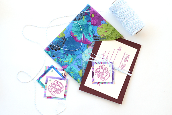 Step 7 2 DIY Tutorial: Tropical Invitation Suite + Fabric Envelope