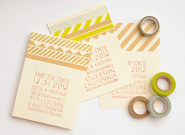 final2 DIY Tutorial: Modern Washi Tape Save the Dates