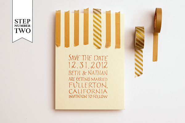 step21 DIY Tutorial: Modern Washi Tape Save the Dates