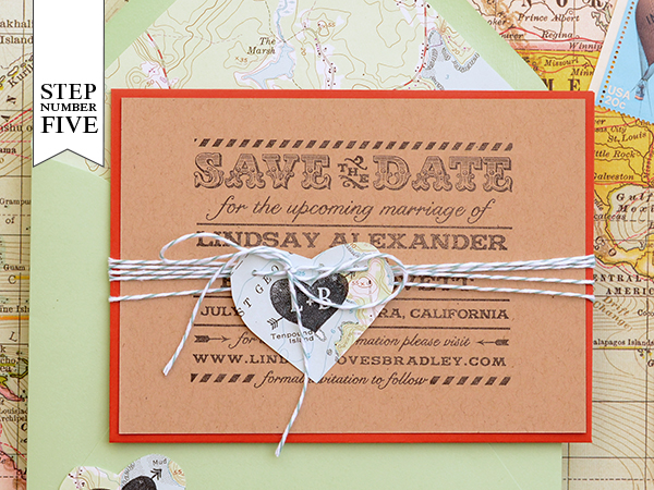 step5 DIY Tutorial: Travel Inspired Save the Date