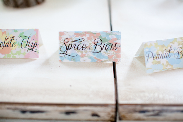 Bold Floral Dessert Labels Bird Dog Wedding Lahra Bryant Photography Wedding Stationery Inspiration: Bold Florals