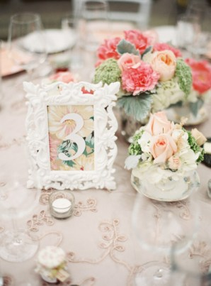 Bold Floral Wedding Table Numbers Lani Elias Fine Art Photography 300x407 Wedding Stationery Inspiration: Bold Florals