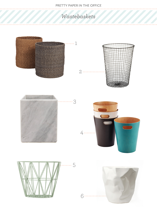 PrettyPaperWastebaskets Pretty Paper in the Office: Wastebaskets